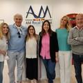 L'attore statunitense Michael Nouri in visita ad Andria con lo stilista Domenico Vacca