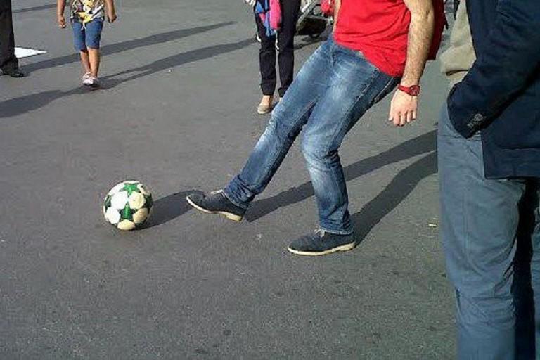 calcio per strada