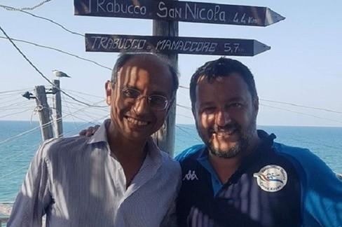 Nicola Giorgino con Matteo Salvini