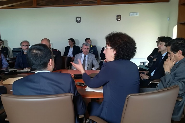 Riunione operativa della Protezione civile presso la Prefettura di Barletta