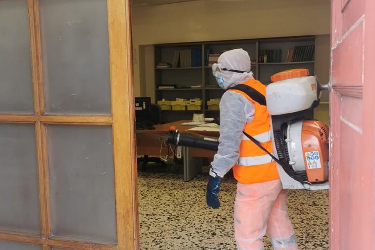 sanificazione uffici comunali