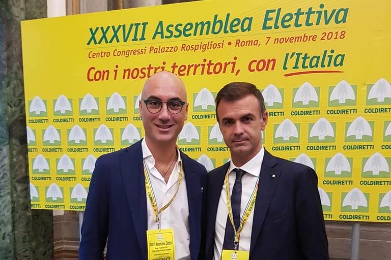 Savino Muraglia (a sx) con Ettore Prandini