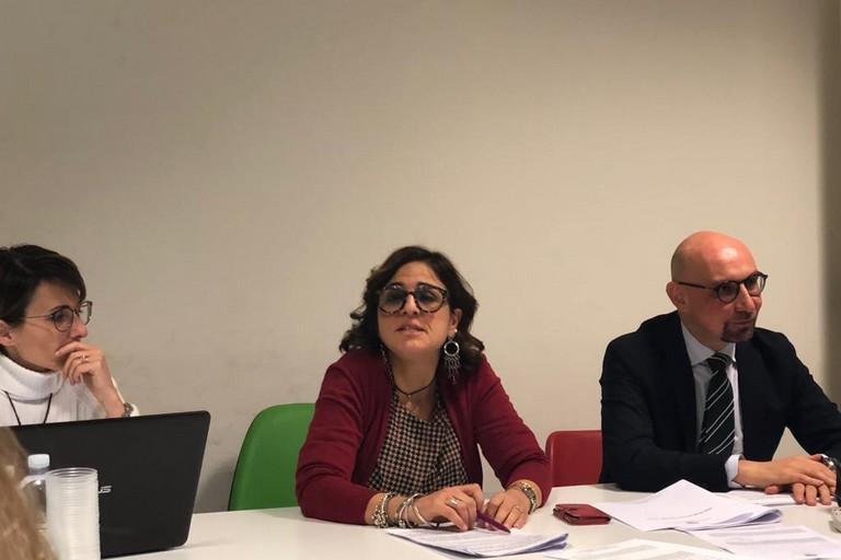 da sx Claudia Figliolia, Mariangela D'Oria e Francesco Bruno