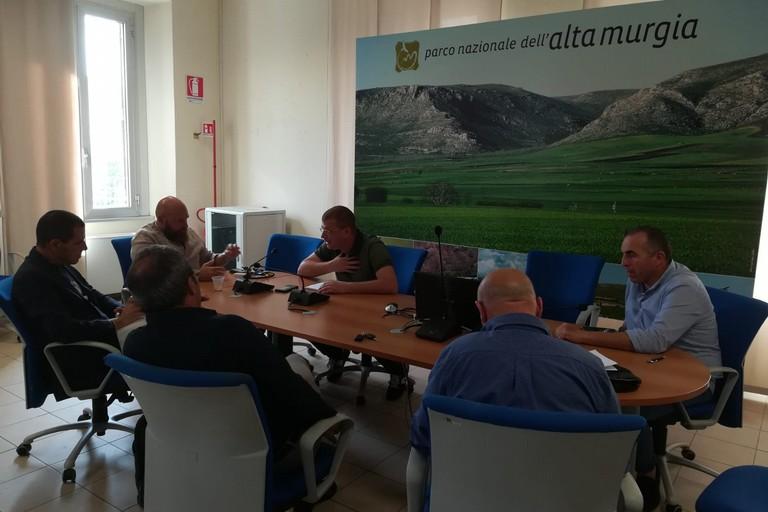 riunione presso il parco dell'alta Murgia