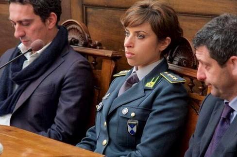 Al centro il Comandante Doriana Dileo