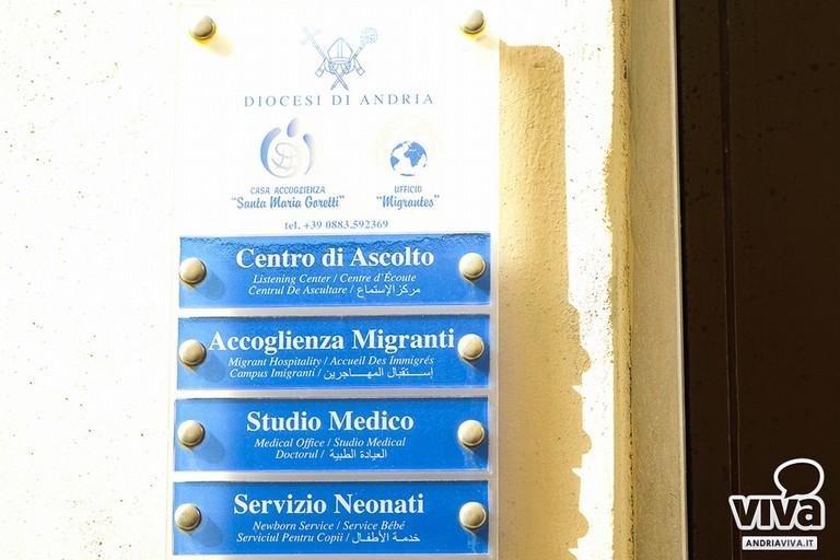caritas andria, casa accoglienza s. maria goretti