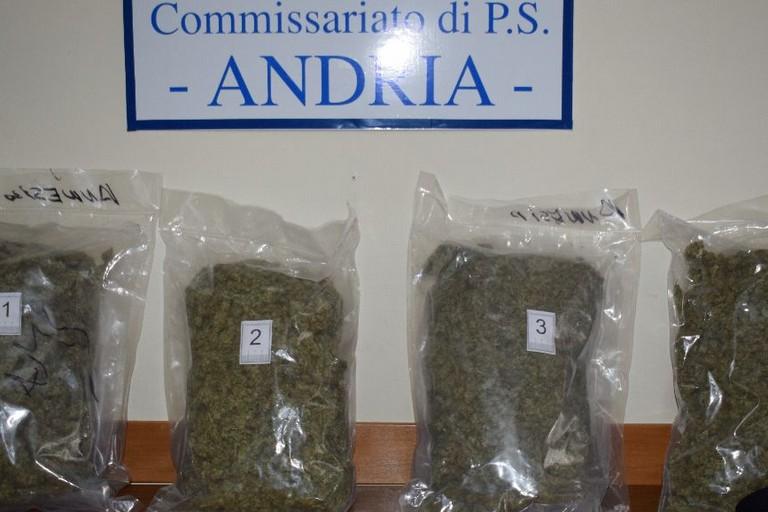 arrestato ad Andria dalla Polizia di Stato con circa kg 4 e mezzo di marjuana