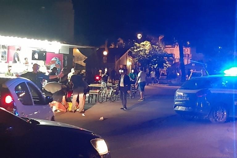 sparatoria nella villa comunale
