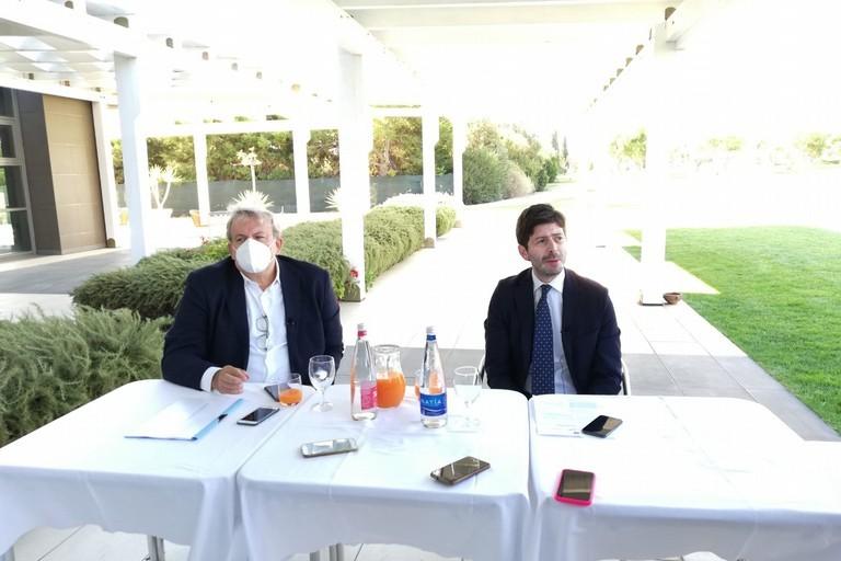 Michele Emiliano e il ministro Roberto Speranza