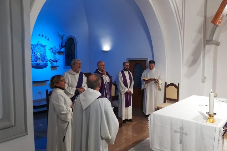 Santa Messa natalizia di Mons. Mansi per il personale dell'ospedale Bonomo