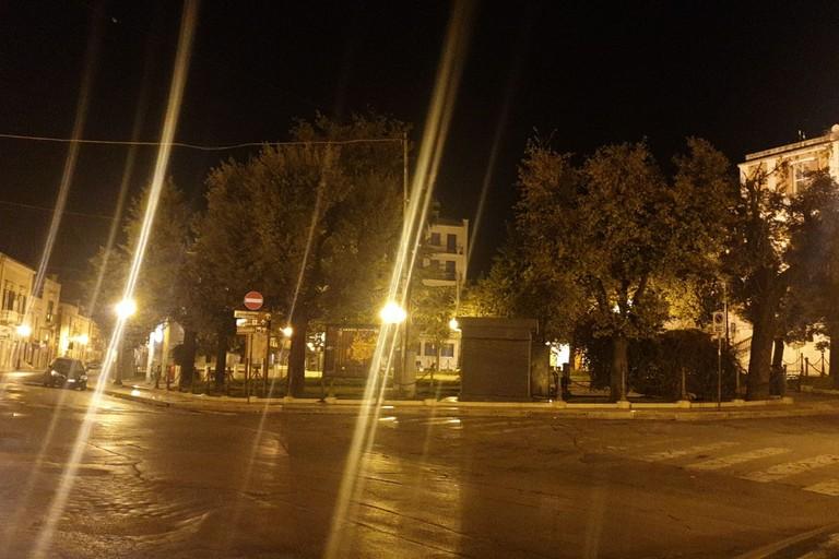 Andria deserta durante le serate di lockdown