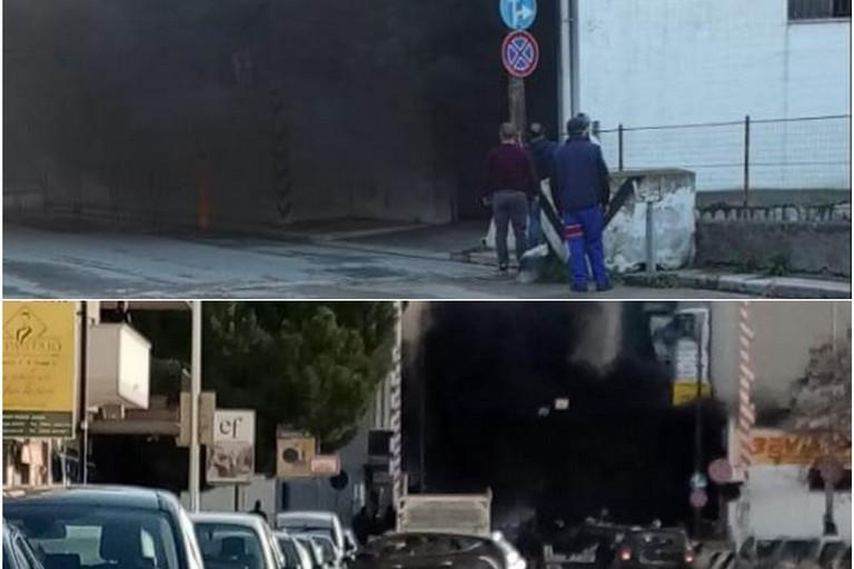 Incendio in un'autofficina di via Barletta: ingenti i danni. Il VIDEO