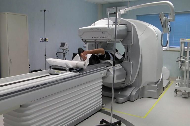 Gamma Camere in uso nella unità operativa di Medicina Nucleare del Dimiccoli
