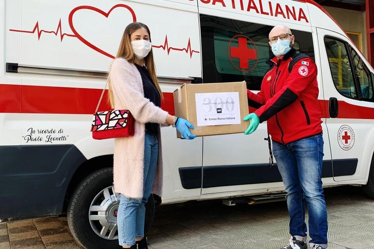 Mascherine alla Croce Rossa Italiana