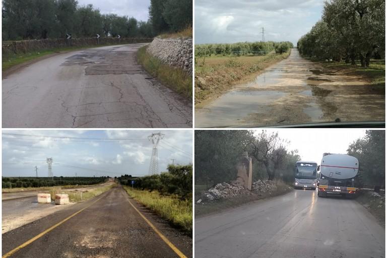 pericolo sull'Andria Canosa di Puglia e sulla strada Troianelli Montegrosso