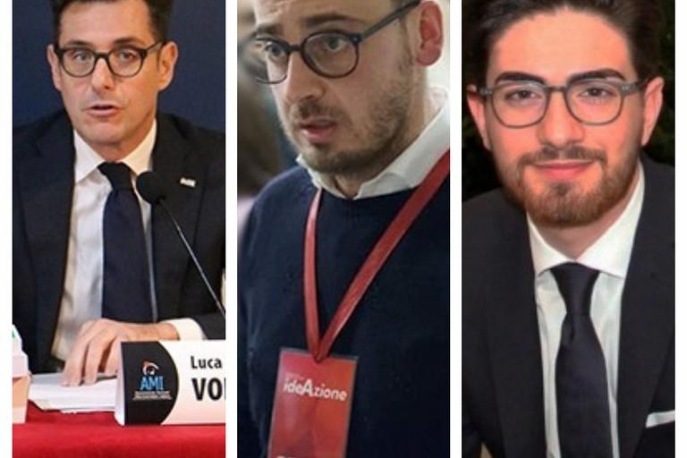 da sx Luca Volpe, Antonio Di Gregorio e Giuseppe Figliolia