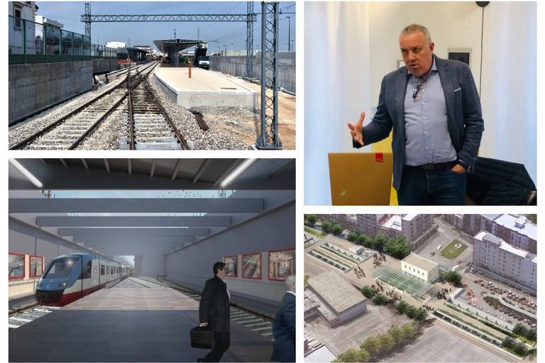 Zinni ed interramento ferroviario tratto di Andria