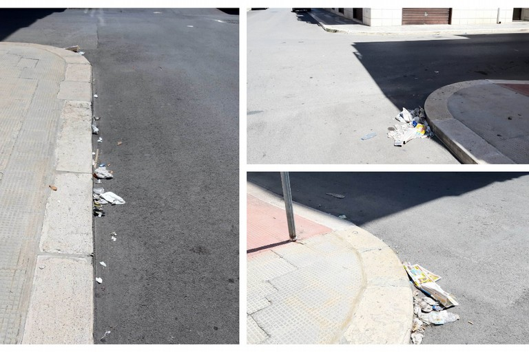 mancata pulizia strade al quartiere Sacro Cuore
