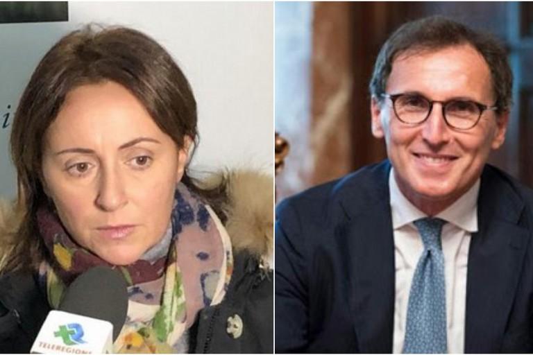 Giovanna Bruno e Francesco Boccia