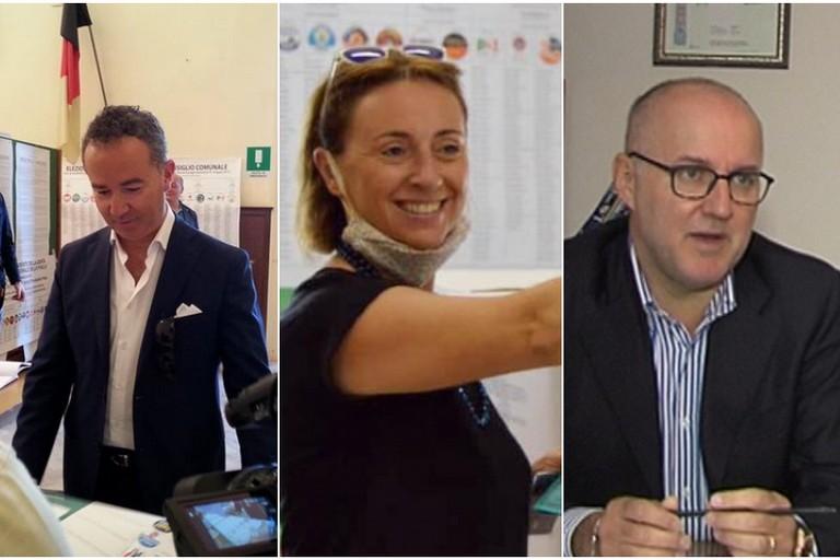 I due candidati sindaco con il dirigente del Commissariato di P.S. Bonato