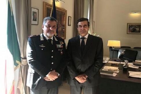 Il generale Manzo con il Prefetto Sensi