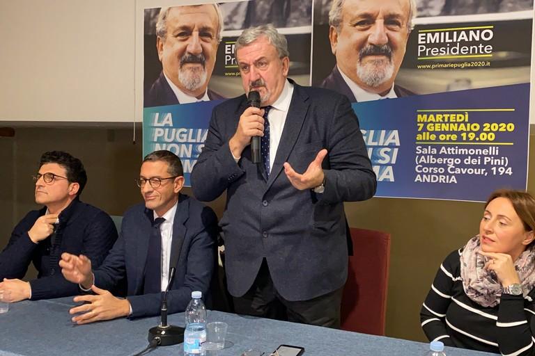 Michele Emiliano ad Andria