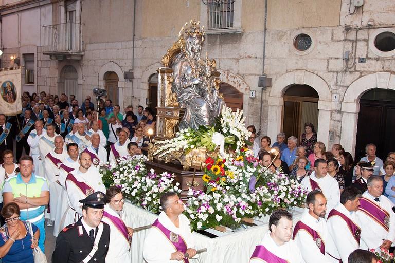 Festa patronale: la processione dell'arrivo della Madonna dei Miracoli. <span>Foto Riccardo Di Pietro</span>