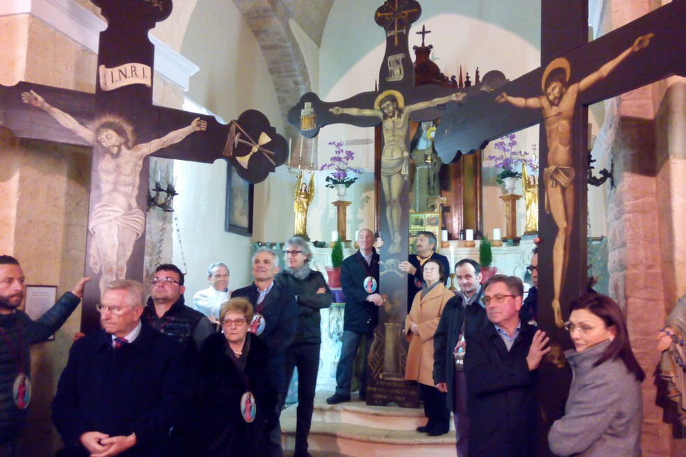 """A Matera, i Crociferi di Andria per il """"Primo cammino delle Confraternite"""" delle Chiese lucane"""
