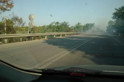 Incendio strada statale ex 98
