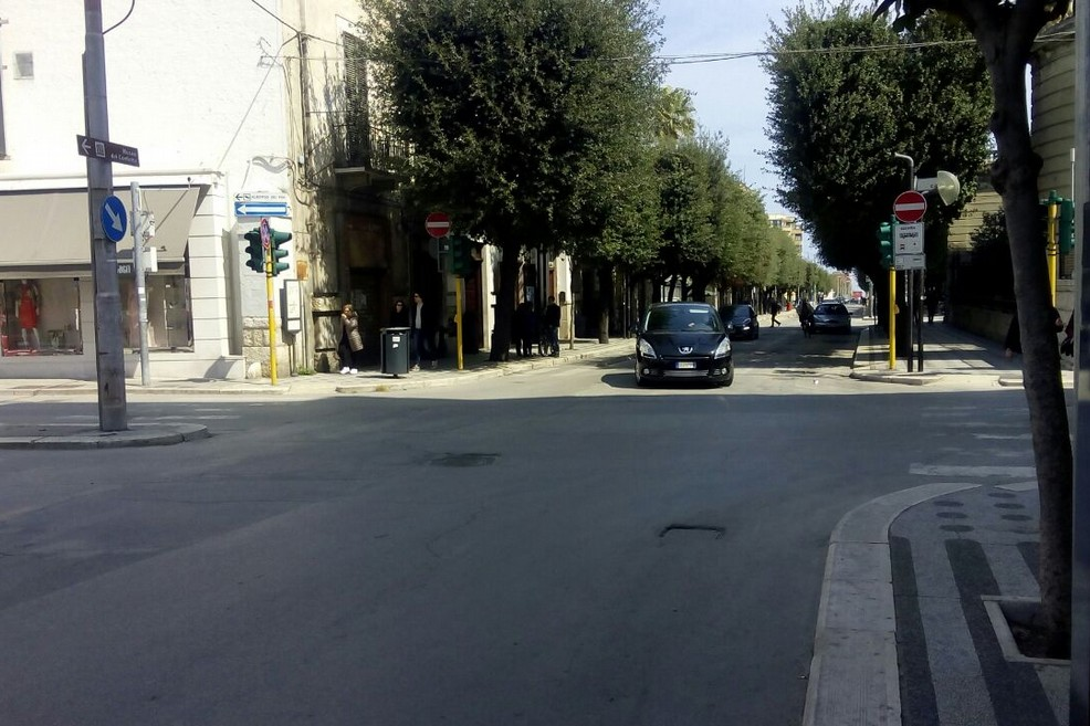 Incrocio corso Cavour - via Firenze