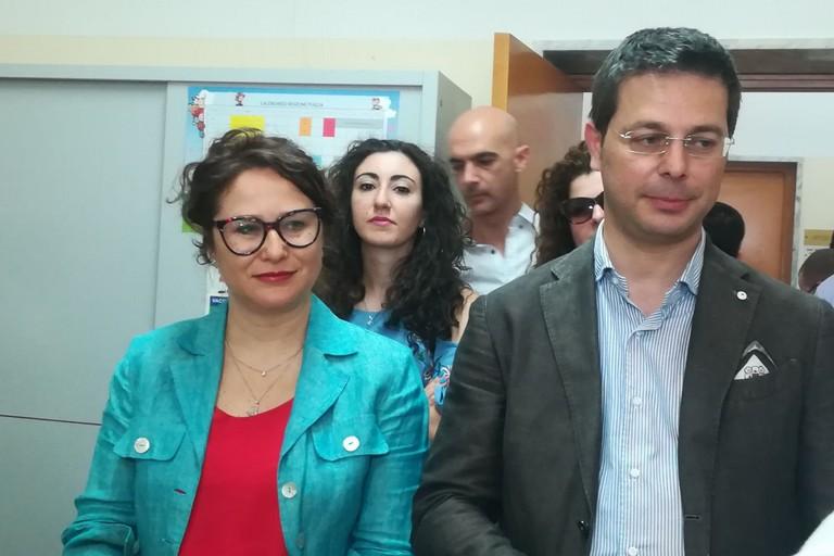 l'avv. Grazia Di Bari con l'avv. Roberto Morra