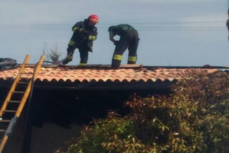 incendio in villa in località montevitolo