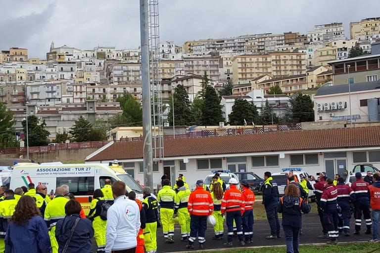 Esercitazione sismica protezione civile