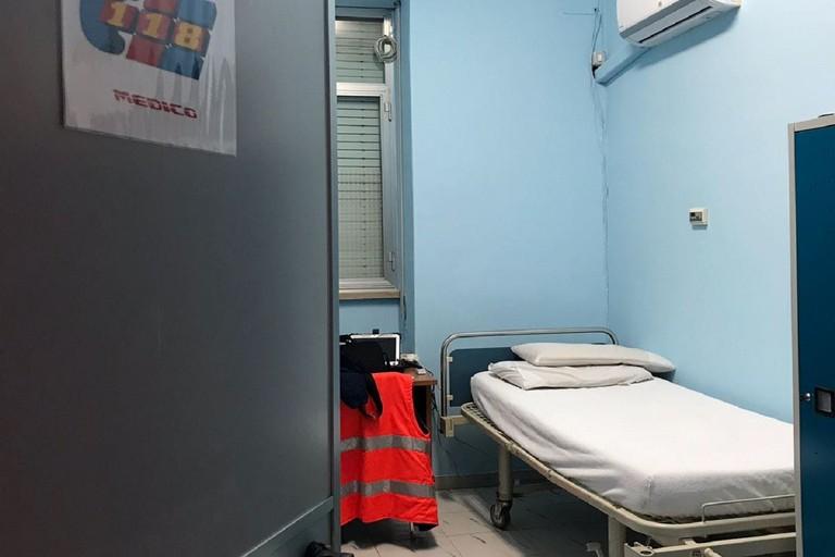 locali del 118 presso l'ospedale
