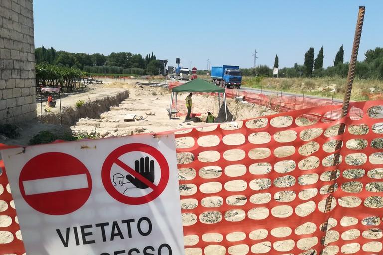 Scoperta archeologica durante i lavori di ampliamento della provinciale 2 ad Andria