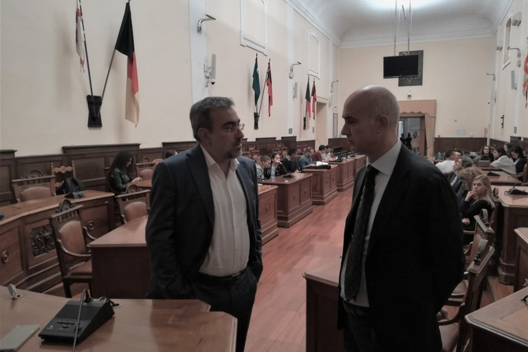 da sx dr. Alessandro Buongiorno ed il prof. Savino Santovito