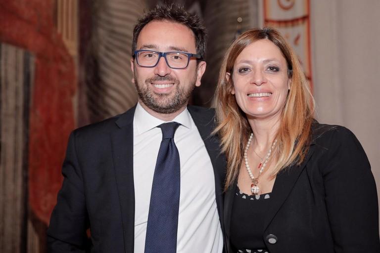 La sen. Angela Bruna Piarulli (M5S) con il Ministro Bonafede