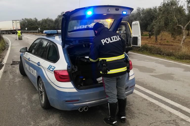 Polizia Stradale. <span>Foto Vincenzo Cassano</span>