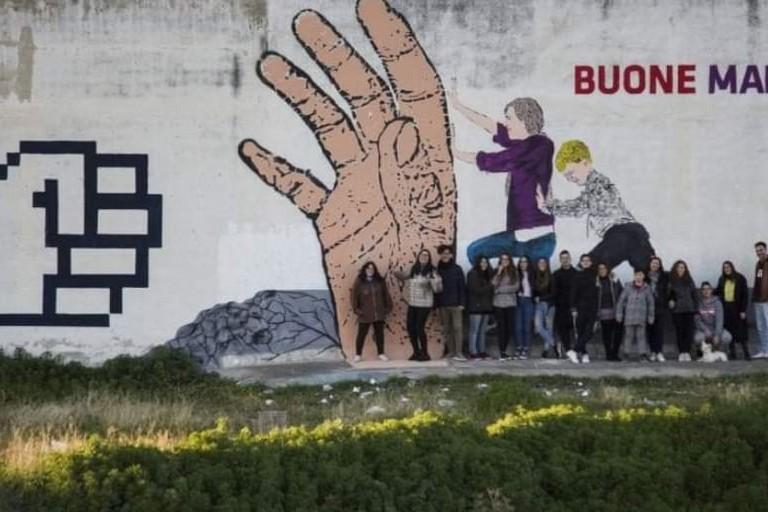 Murales nel quartiere San Valentino