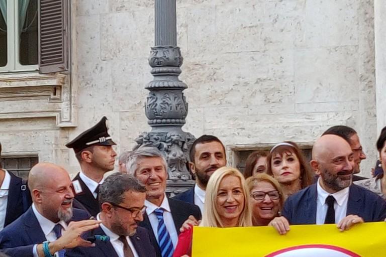 parlamentari del M5S, tra cui Ruggiero Quarto portavoce al Senato