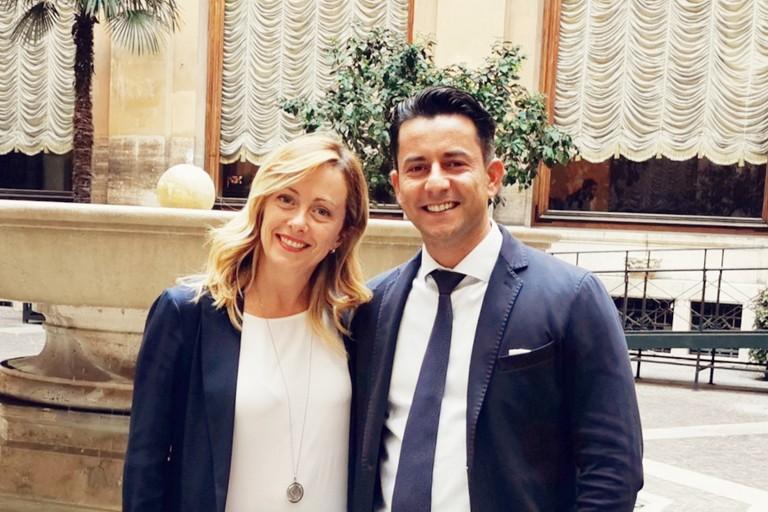 L'on.le Giorgia Meloni con il collega Davide Galantino