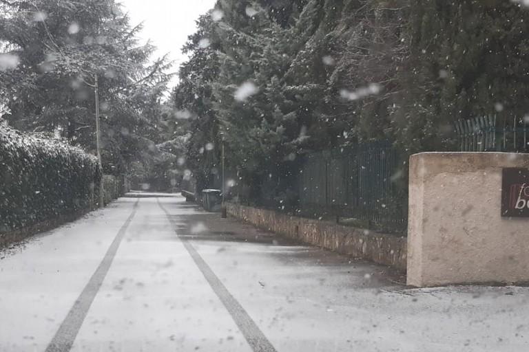 Fiocchi di neve a Castel del monte