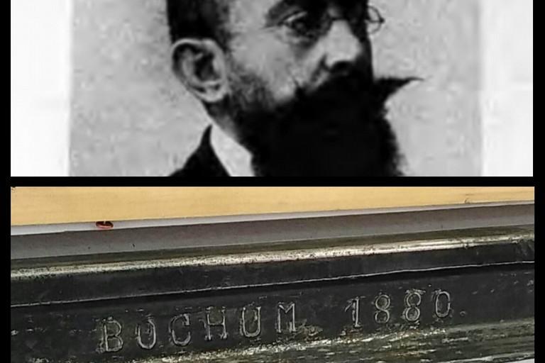 Immagine dell'artista Pàstina e rotaia del1880