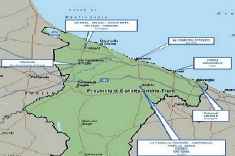 Mappa dei clan criminali nella provincia Bat