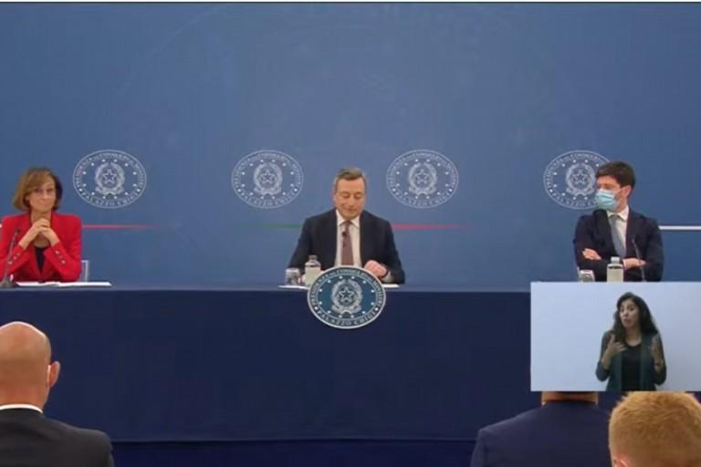 Conferenza Presidente Mario Draghi