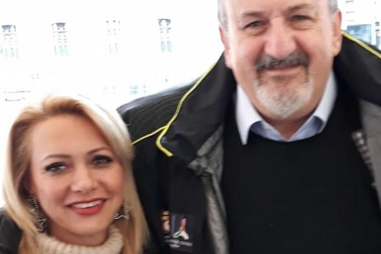 Laura Di Pilato e Michele Emiliano