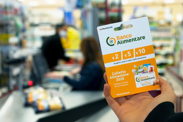 colletta alimentare con card