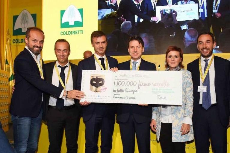 Coldiretti ha raccolto l'adesione e l'impegno del presidente del consiglio Conte