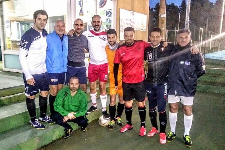 squadra di calcio a 7 della Asl/Bt