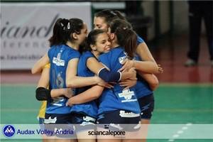 Esultanza Audax Volley Andria